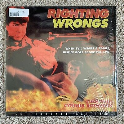 Righting Wrongs Letterbox Laserdisc In Shrink - Cynthia Rothrock - VERY RARE