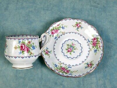 Royal Albert Petit Point Bone China Tea Coffee Cup Saucer 1930s England