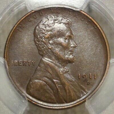 1911-D Lincoln Cent, Almost Uncirculated PCGS AU-53, Well Struck & Scarce