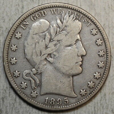 1895-O Barber Half Dollar, Very Good to Fine, Better Date  0124-02