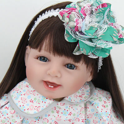 """Hot 22"""" Real Life Reborn Baby Doll Girl Soft Vinyl Silicone Likelife Toddler Toy"""