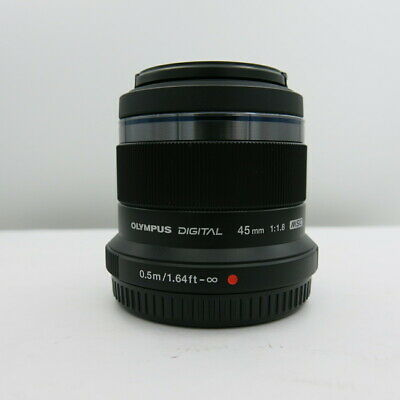 Olympus Digital MSC M.Zuiko 45mm f/1.8 Lens, Black Micro 4/3 MINT CONDITION