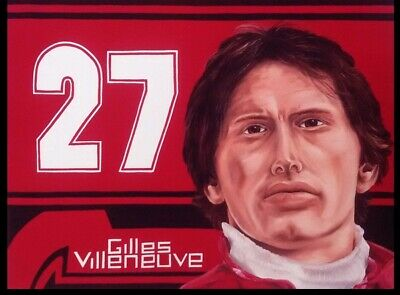 Painting Gilles Villeneuve (CAN) by Franka van Lent