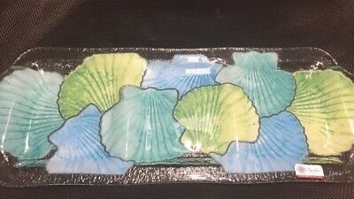 PEGGY KARR Fused Art Glass 3 Section Platter. Signed Rare 19 3/8 x 7 1/2