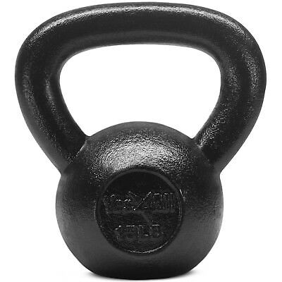 Yes4All 15 lb Kettlebell Weights for Workout - Solid Cast Iron Kettlebells²52D