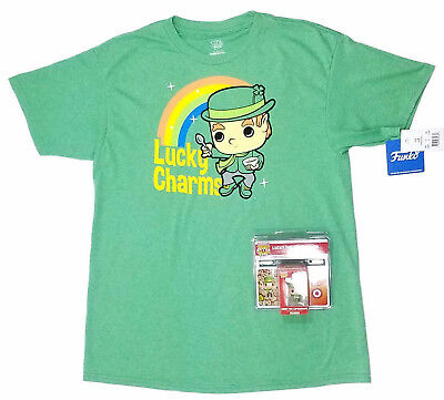 New Funko Pop Tees Ad Icon Lucky Charms T shirt Target Exclusive Sz Youth L-XL
