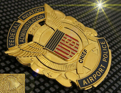 w1/ Collector badge + Chief, US Airport Police, Federal Aviation Administration