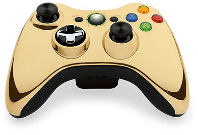 Official Microsoft Xbox 360 Wireless Controller - Gold Chrome