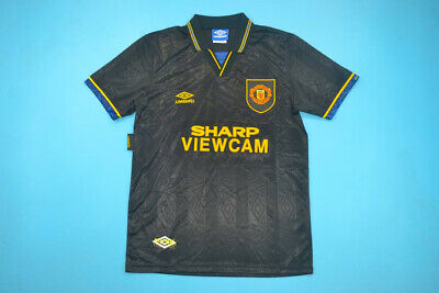 c95c7cd537e Manchester United 1993-1994 Away Premier League Soccer Jersey Football Shirt