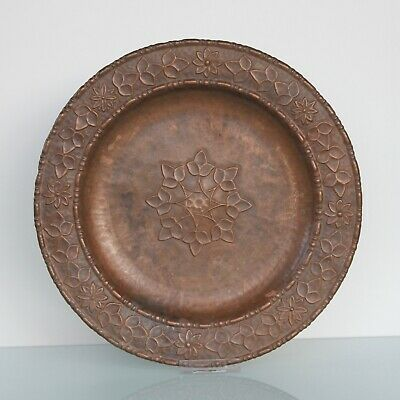 Arts and Crafts wall plaque charger.