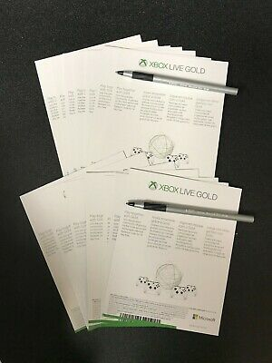 Microsoft Xbox Live Gold 6 Month Trial (14 X 14 / 184 Days) UNUSED