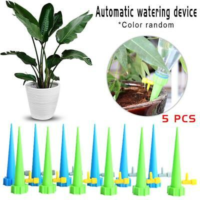 5pcs Plant Self Watering Spikes Stakes Automatic Valve Waterer Device For Lawn