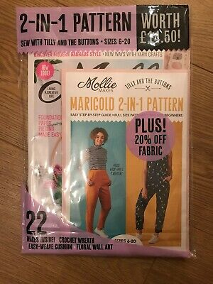 Molly Makes Issue #104 + 2 In 1 Pattern size 6-20 Worth £14.50 & 22 Makes Inside