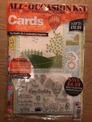 Simply Cards & Papercraft Issue 189 + All Occasion Kit Worth £18.99