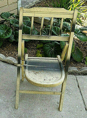 Small Vintage  Folding Chair Suitable for Small Adult or Children
