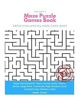 Maze Puzzle Games Book Brain Challenging Maze Game Book for Teen by Glover James