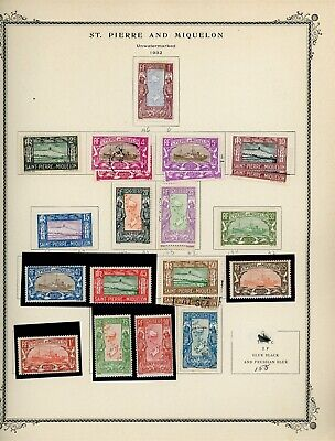St. Pierre & Miquelon Page Lot #4 - SEE SCAN - $$$