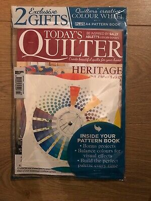 Todays Quilter Issue 47 + QUILTERS COLOUR WHEEL & Pattern Book