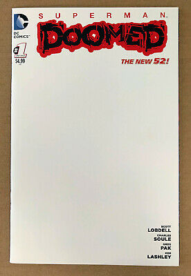 Superman Doomed #1 BLANK Cover Variant (2014, DC Comics) - NM