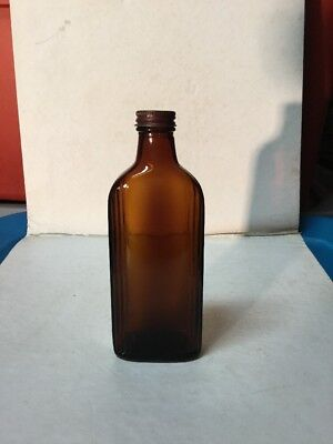 Antique Amber Chattanooga Medicine Co. Apothecary Bottle W/Lid