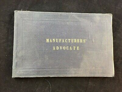 Manufacturers Advocate Convention Proceedings Worcester Rare Jan 1868 (A4)