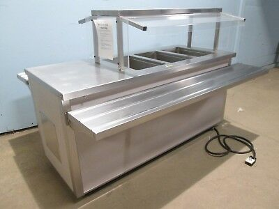 """""""DELFIELD"""" HD COMMERCIAL (NSF) 3 PANS HOT BUFFET TABLE w/SNEEZE GUARD ON CASTERS"""