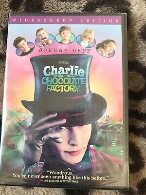 New Charlie and the Chocolate Factory (DVD, 2005, Widescreen) Sealed