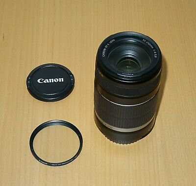 Canon EF-S 55-250mm F/4-5.6 IS Lens + Canon UV filter
