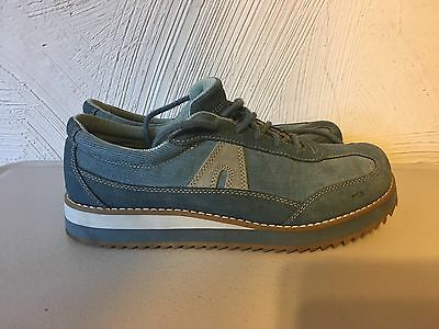 8af9069e0853 Vintage AIRWALK Creepers Blue Suede Corduroy Creepers fashion Sneakers10