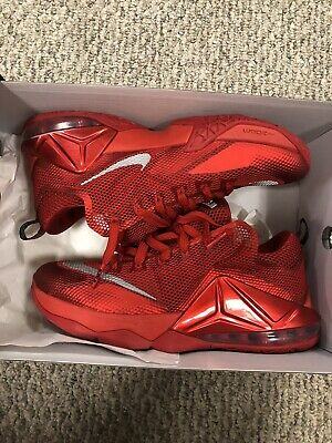 new concept fd925 106f8 Mens Size 10.5 Nike Lebron 12 Xll Low University Red Yeezy Red October