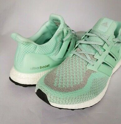 buy popular fd5e1 9d130 Adidas Ultra Boost Mint Green, Gray, White Mens Running Shoes Size 13M NEW