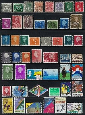 Netherlands-  Collection of 48 Different Stamps........83n........# 8 25