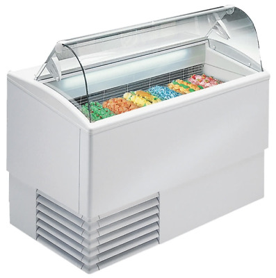 NEW 7 Pan Gelato Dipping Cabinet Display Freezer Excellence PGC-7 NEW #9668 Case