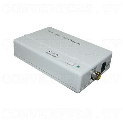 Component and PC to Composite Video Scan Converter (3 Year Warranty)