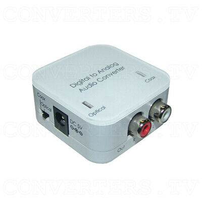 Coaxial/Optical to R/L Audio Converter (3 Year Warranty)