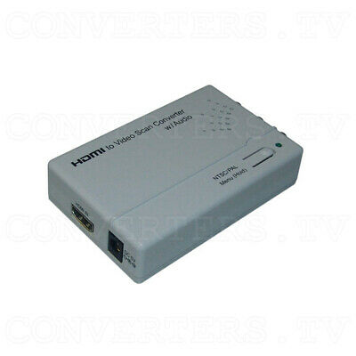 HDMI to Video Scan Converter with Audio Output (3 Year Warranty)