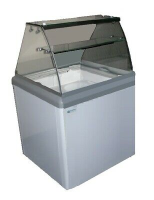 NEW 4 Flavor Ice Cream Dipping Cabinet Glass Case Excellence HBD-4HC #9671 NSF