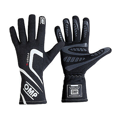 OMP First-S Gloves Black Race / Rally