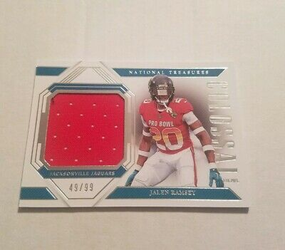 500e591dabd 2018 Panini National Treasures Jalen Ramsey Colossal Pro Bowl Jersey Relic  49/99