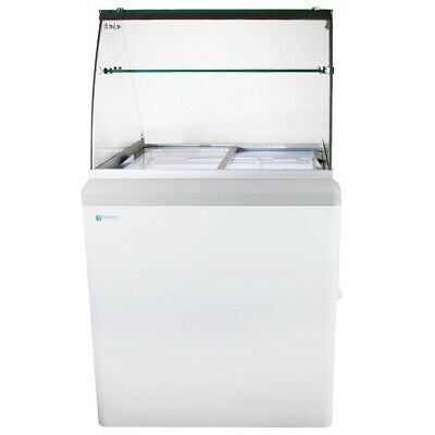 NEW 4 Pan Gelato Dipping Cabinet Glass Display Freezer Excellence HBG-4HC #9678