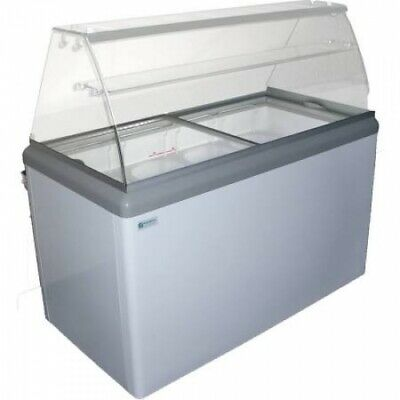 NEW 7 Pan Gelato Dipping Cabinet Glass Display Freezer Excellence HBG-7HC #9679