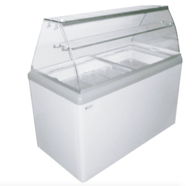 NEW 9 Pan Gelato Dipping Cabinet Glass Display Freezer Excellence HBG-9HC #9680