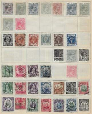 32 Spanish Colony Caribbean Island Stamps from Quality Old Album