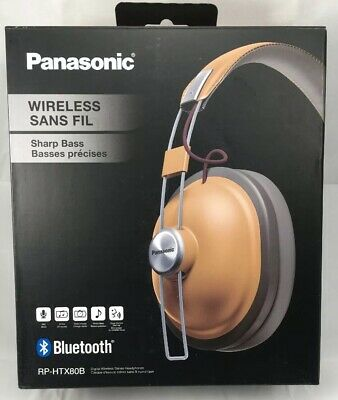 d87693a5b9cab7 Panasonic RP-HTX80B-H Retro Bluetooth Over-Ear Headphones (Camel Beige)