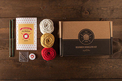 NEW Knitting Kit Learn to Knit Dish clothes Cotton yarn