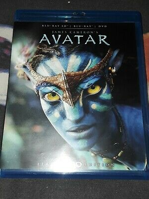 James Cameron's Avatar - Limited Edition 3D Blu-ray + DVD, EXCELLENT, FREE SHIP