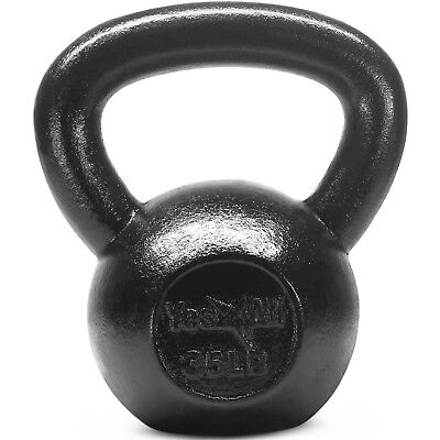 Yes4All 35 lb Kettlebell Weights for Workout - Solid Cast Iron Kettlebells²52D