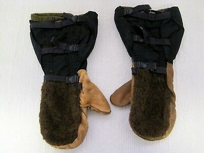 Vintage US AIR FORCE N-4A Air Crew Mittens w/Original Wool Inserts-Size L