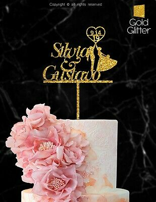 Wedding Cake Topper Laser Cut Personalized Wood Cake Topper Custom Names-ind102