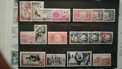 Monaco good lot of airmail  ALL MINT NEVER HINGED  CV  $75